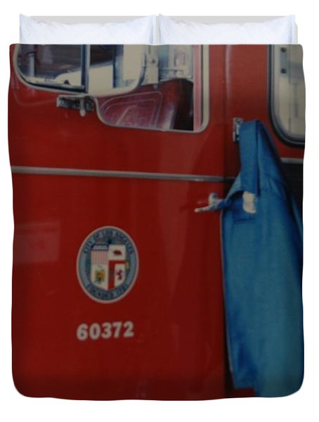 Los Angeles Fire Department Duvet Cover by Rob Hans