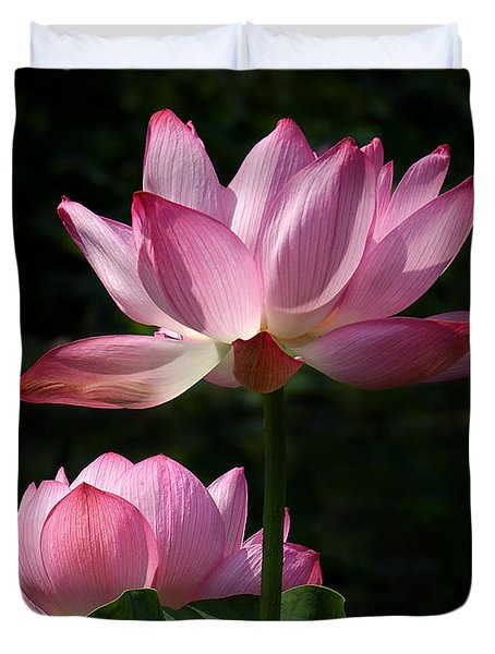 Lotus Beauties--upstaged Dl048 Duvet Cover by Gerry Gantt