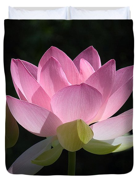 Lotus Bud--Snuggle Bud DL005 Duvet Cover by Gerry Gantt