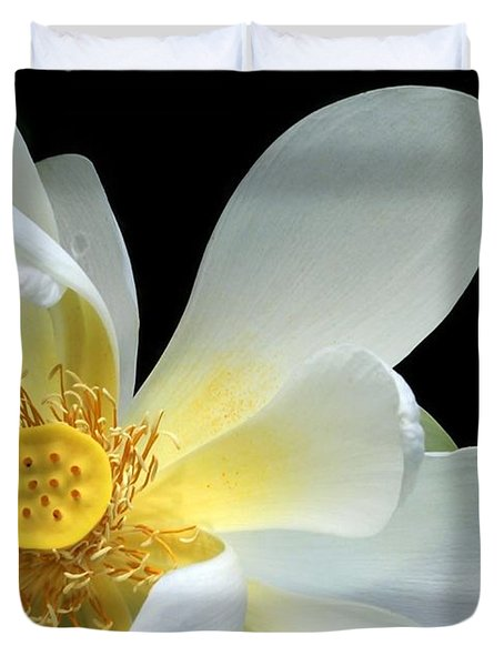 Lotus From Above Duvet Cover by Sabrina L Ryan