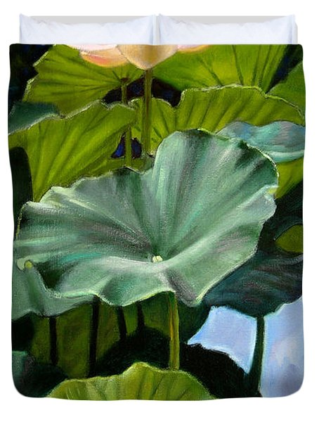 Lotus Rising Duvet Cover by John Lautermilch