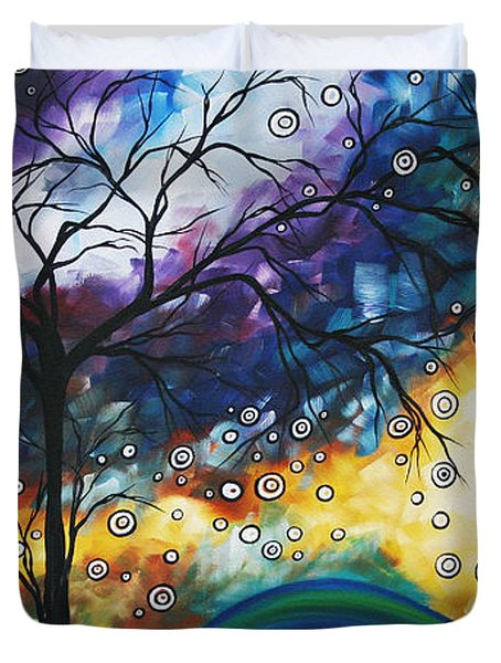 Love and Laughter by MADART Duvet Cover by Megan Duncanson