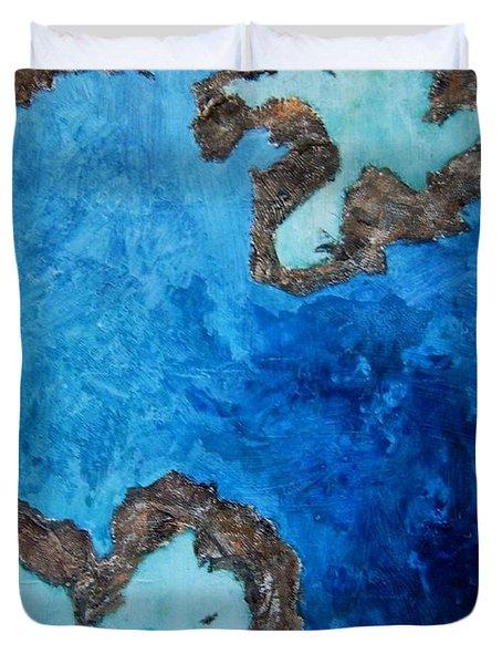 Love Heart Reef Duvet Cover by Georgia  Mansur