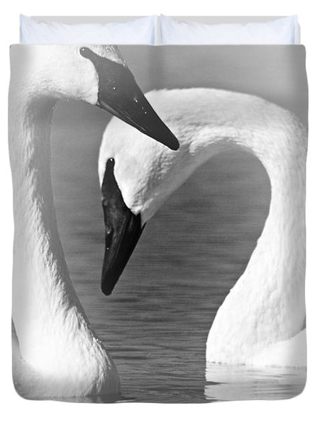 Love In Black And White Duvet Cover by Larry Ricker