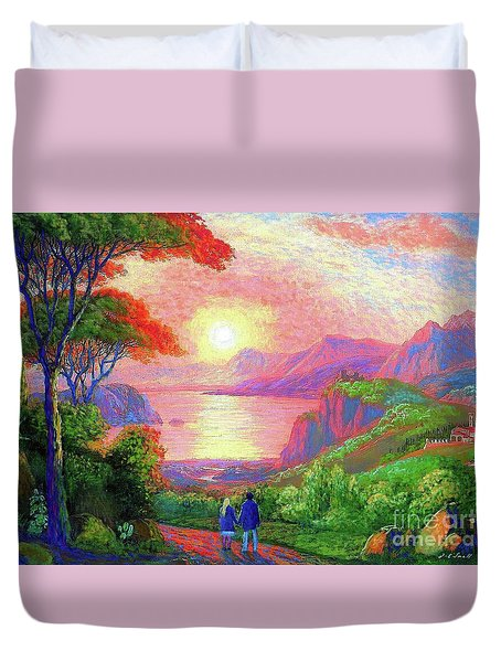 Love Is Sharing The Journey Duvet Cover by Jane Small