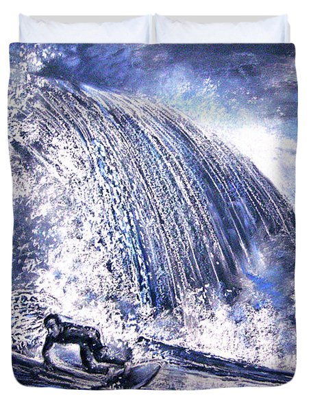 Love Is The Seventh Wave Duvet Cover by Miki De Goodaboom