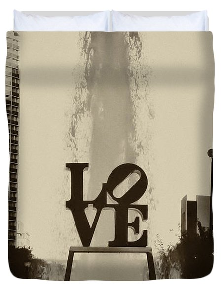 Love Love Love Duvet Cover by Bill Cannon
