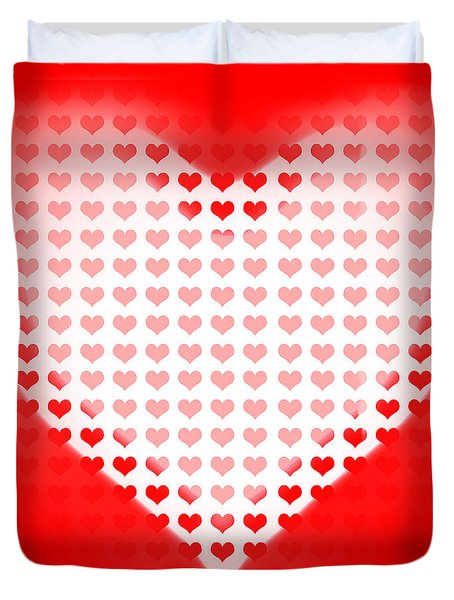 Love Of Valentines Background. Big Red Heart Duvet Cover by Ryan Jorgensen