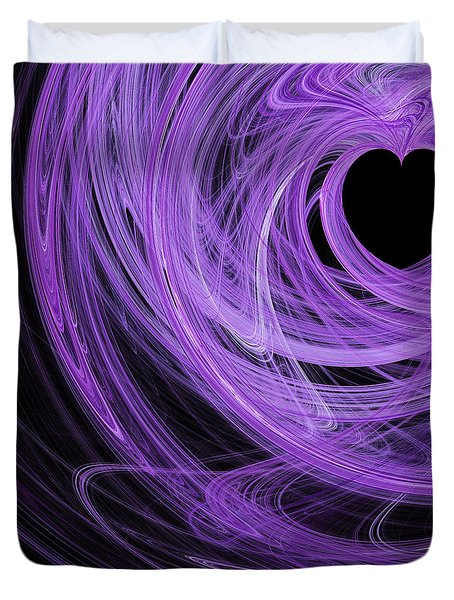 Love Swirls . Square . A120423.689 Duvet Cover by Wingsdomain Art and Photography