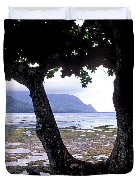 Low Tide And The Tree Duvet Cover by Kathy Yates