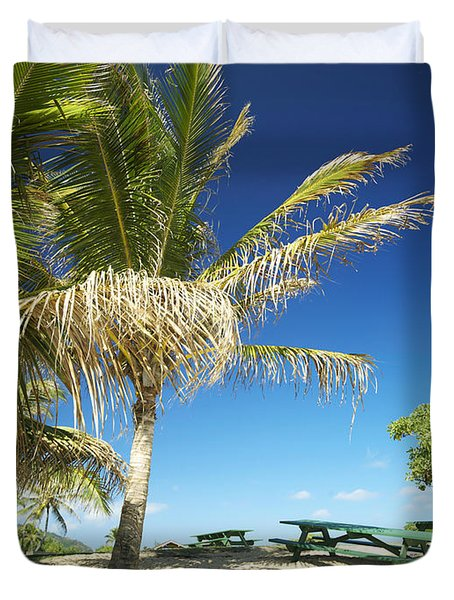 Lydgate Beach On Kauai Duvet Cover by Kicka Witte - Printscapes