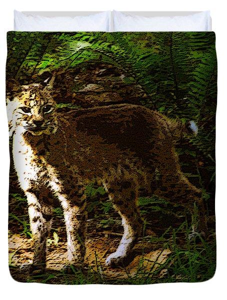 Lynx Rufus Duvet Cover by David Lee Thompson