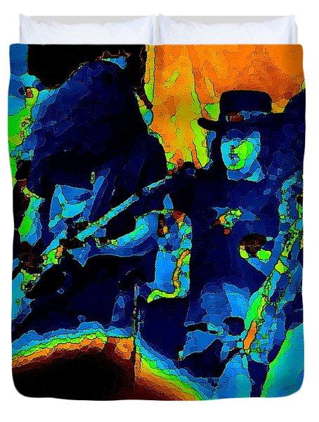Lynyrd Skynyrd Pastel Oakland 2 Duvet Cover by Ben Upham