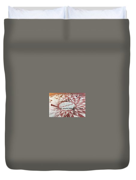 Lyrics Quote Duvet Cover by JAMART Photography