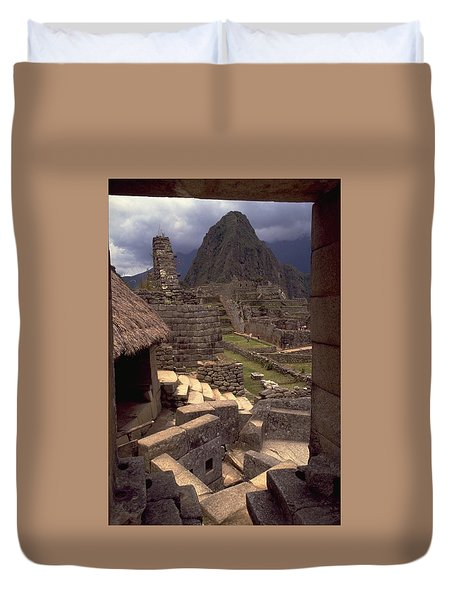 Duvet Cover featuring the photograph Machu Picchu by Travel Pics