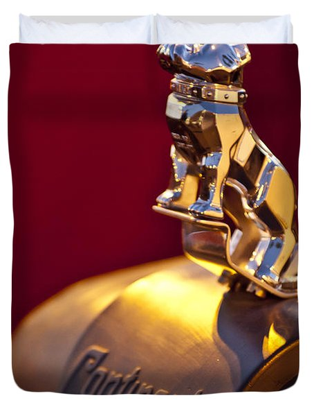 Mack Truck Hood Ornament Duvet Cover by Jill Reger