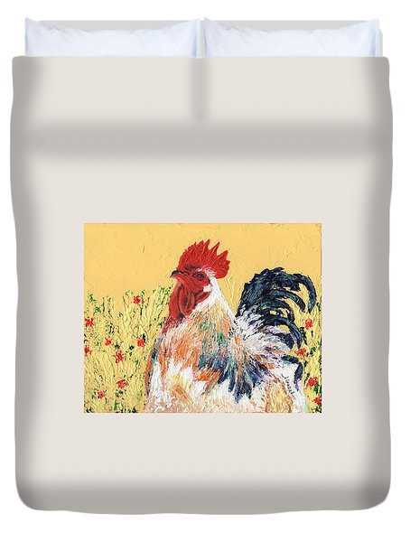 Mad Max With Poppies Duvet Cover by Laura Gabel