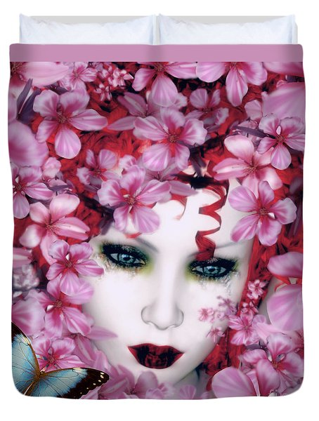 Madame Butterfly Duvet Cover by Shanina Conway