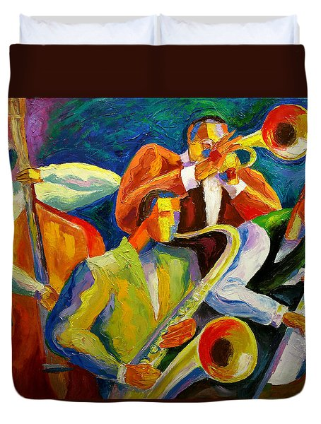 Magic Music Duvet Cover by Leon Zernitsky