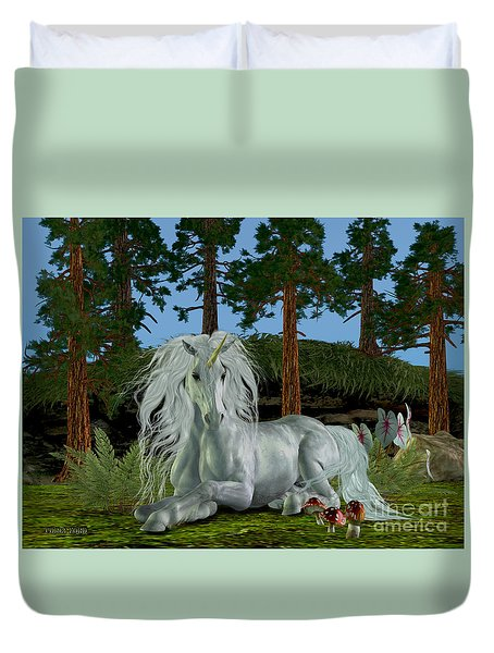 Magic Woodland Duvet Cover by Corey Ford