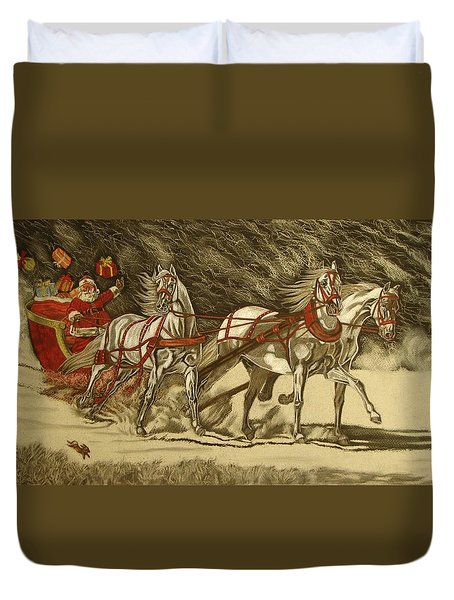 Magical Christmas Duvet Cover by Melita Safran