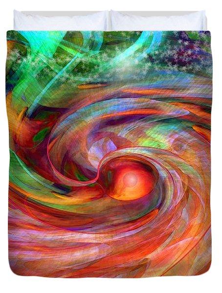 Magical Energy Duvet Cover by Linda Sannuti