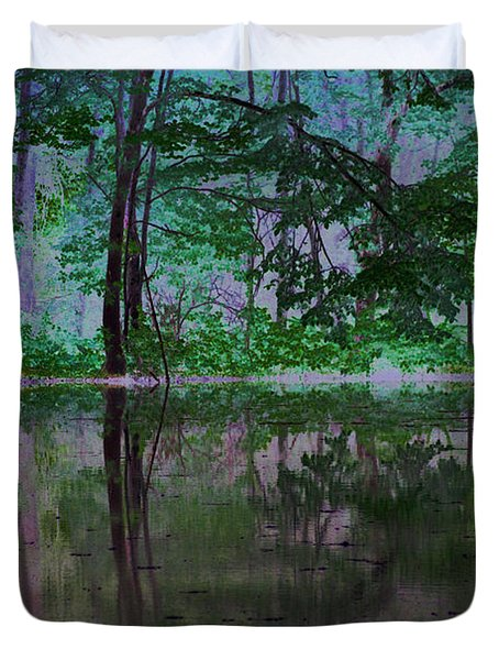 Magical Forest Duvet Cover by Karol Livote