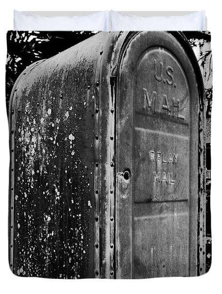 Mail Box Duvet Cover by David Lee Thompson