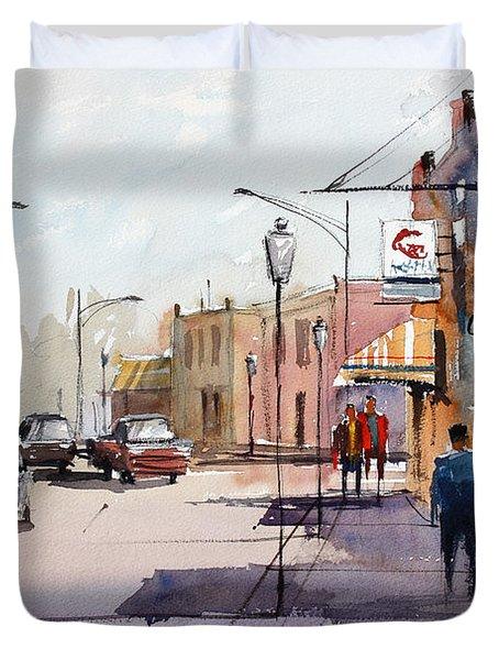 Main Street - Wautoma Duvet Cover by Ryan Radke