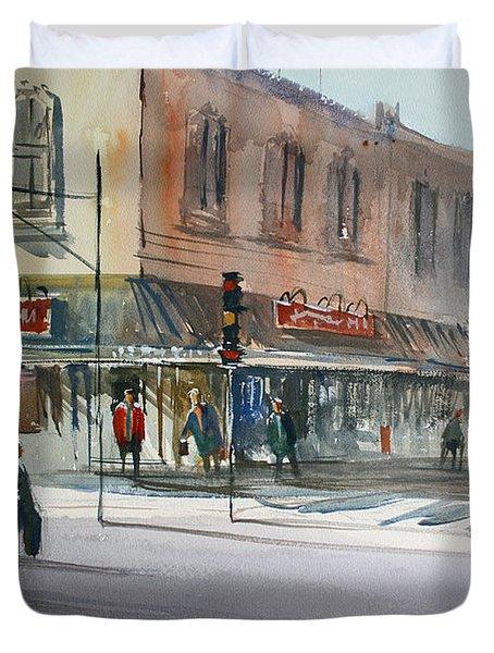Main Street Marketplace - Waupaca Duvet Cover by Ryan Radke