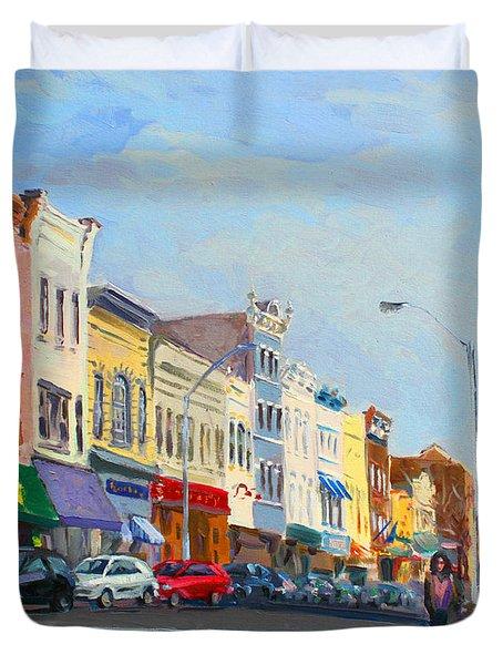 Main Street Nayck  Ny  Duvet Cover by Ylli Haruni