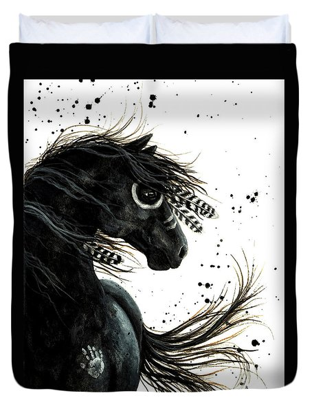 Majestic Friesian Duvet Cover by AmyLyn Bihrle