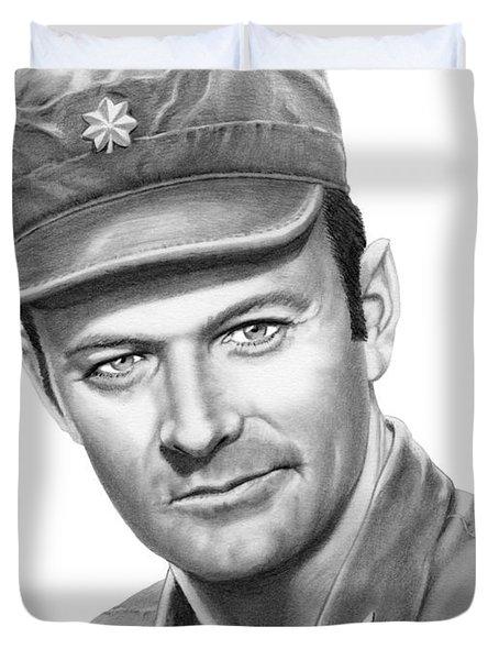Major Frank Burns Duvet Cover by Murphy Elliott