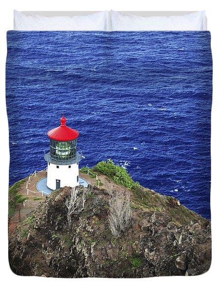 Makapuu Lighthouse II Duvet Cover by Brandon Tabiolo - Printscapes