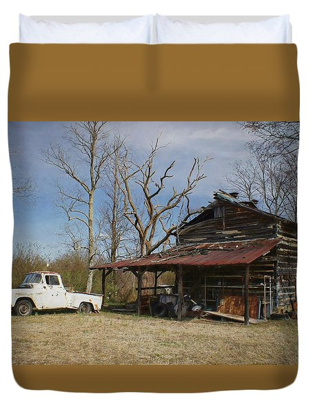 Makes Me Wanna Take A Back Road Duvet Cover by Benanne Stiens