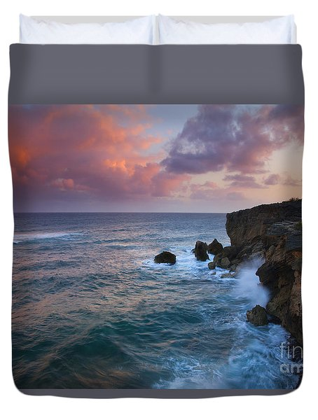 Makewehi Sunset Duvet Cover by Mike  Dawson