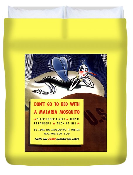 Malaria Mosquito Duvet Cover by War Is Hell Store