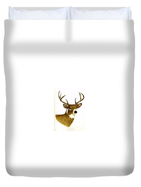 Male Deer Duvet Cover by Michael Vigliotti