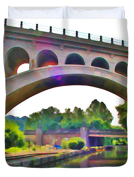 Manayunk Canal Duvet Cover by Bill Cannon