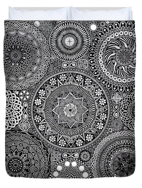 Mandala Bouquet Duvet Cover by Matthew Ridgway