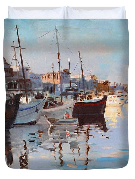Mandraqi Rhodes Greece Duvet Cover by Ylli Haruni