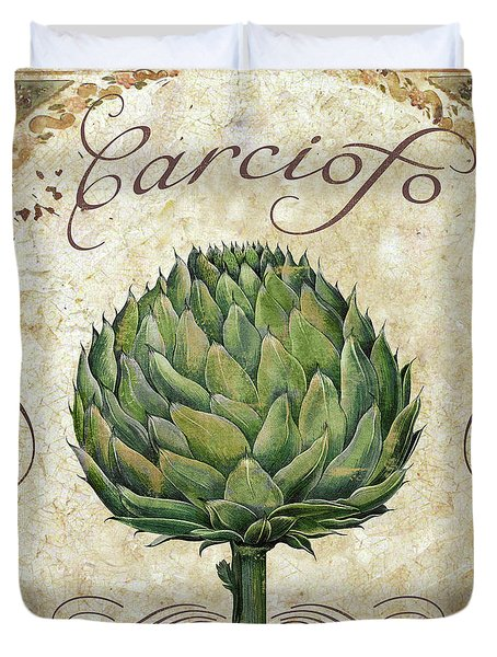 Mangia Artichoke Duvet Cover by Mindy Sommers