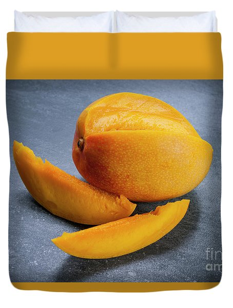 Mango And Slices Duvet Cover by Elena Elisseeva