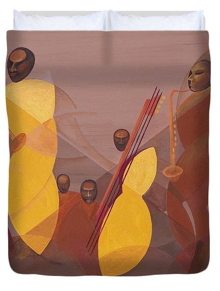 Mango Jazz Duvet Cover by Kaaria Mucherera