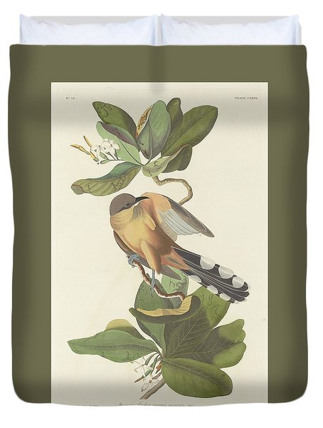 Mangrove Cuckoo Duvet Cover by John James Audubon