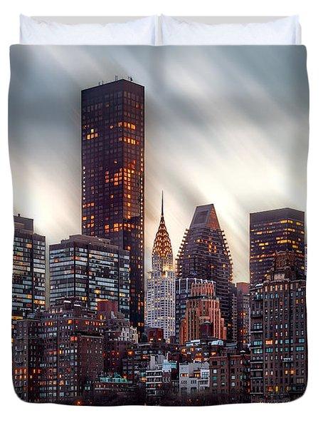 Manhattan Daze Duvet Cover by Az Jackson