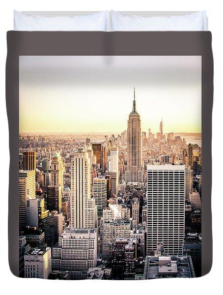 Manhattan Duvet Cover by Michael Weber