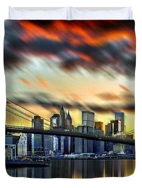 Manhattan Passion Duvet Cover by Az Jackson