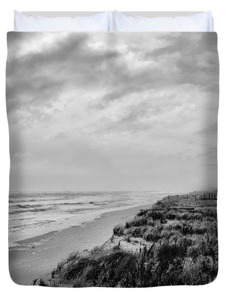 Mantoloking Beach - Jersey Shore Duvet Cover by Angie Tirado