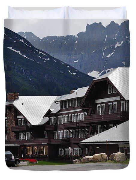 Many Glacier Lodge Duvet Cover by Diana Nigon